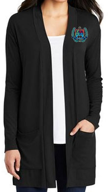 LADIES CONCEPT LONG POCKET CARDIGAN W/LOGO