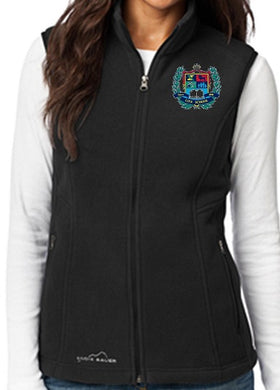 LADIES FLEECE VEST W/LOGO
