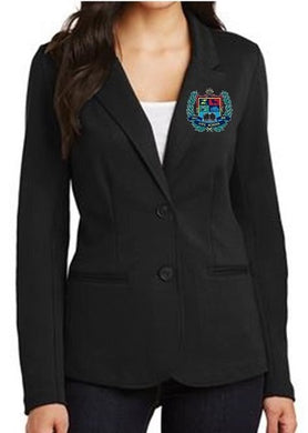 LADIES KNIT BLAZER W/LOGO