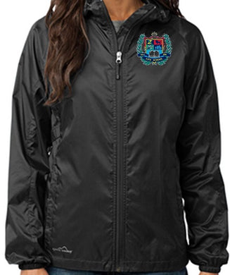 LADIES PACKABLE WIND JACKET W/LOGO