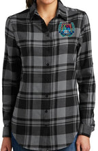 Load image into Gallery viewer, LADIES PLAID FLANNEL TUNIC W/LOGO