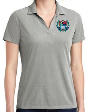 LADIES POLY OXFORD PIQUE POLO W/LOGO