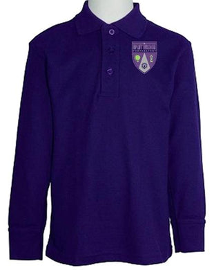UNISEX YOUTH LONG SLEEVE POLO W/LOGO