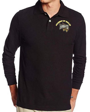 MENS LONG SLEEVE POLO W/LOGO