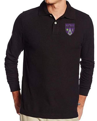 MENS LONG SLEEVE POLO W/ LOGO