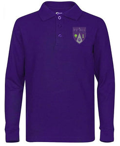 UNISEX ADULT LONG SLEEVE POLO W/ LOGO