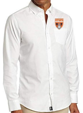 MENS LONG SLEEVE OXFORD W/ LOGO