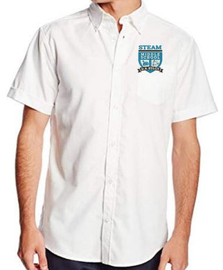 MENS SHORT SLEEVE OXFORD W/ LOGO