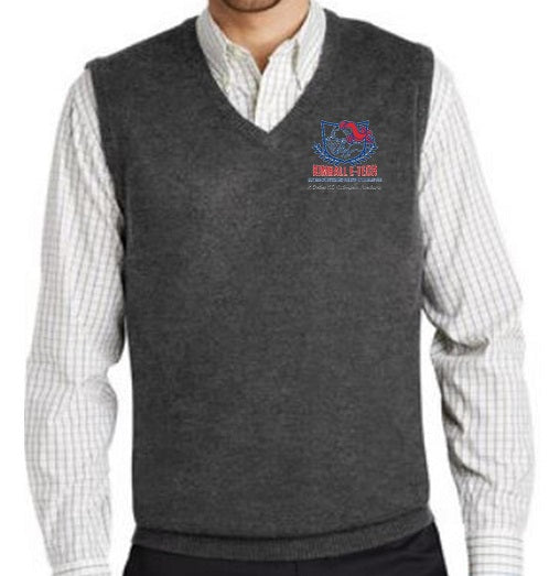 UNISEX V-NECK SWEATER VEST W/ LOGO