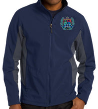 Load image into Gallery viewer, MENS CORE COLORBLOCK SOFT SHELL JACKET W/LOGO