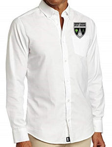 MENS LONG SLEEVE OXFORD W/LOGO