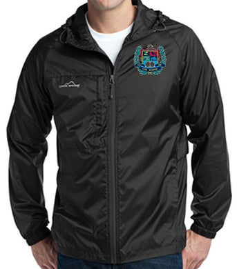 MENS PACKABLE WIND JACKET W/LOGO