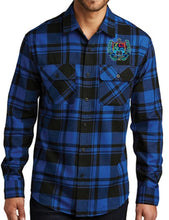 Load image into Gallery viewer, MENS PLAID FLANNEL SHIRT W/LOGO