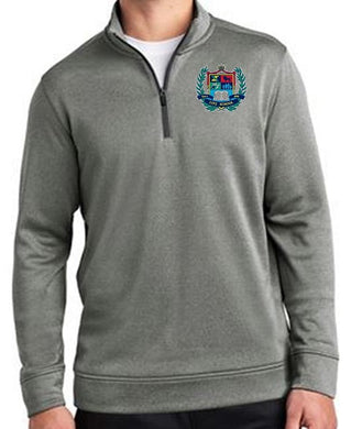 MENS POSI CHARGE SPORT WICK HEATHER 1/4 ZIP PULLOVER W/LOGO