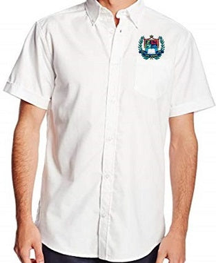 MENS SHORT SLEEVE OXFORD W/LOGO