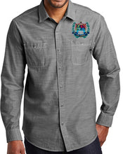 Load image into Gallery viewer, MENS SLUB CHAMBRAY SHIRT W/LOGO