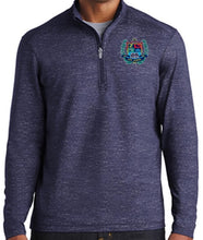 Load image into Gallery viewer, MENS STRETCH REFLECTIVE HEATHER 1/2 ZIP PULLOVER W/LOGO