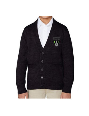 UNISEX YOUTH CARDIGAN SWEATER W/LOGO