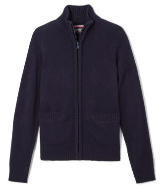 BOYS ZIP FRONT SWEATER