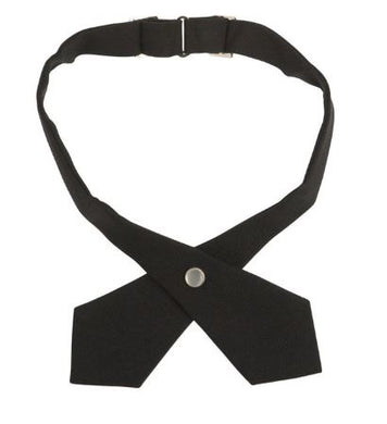 GIRLS BLACK CROSS TIE