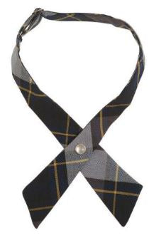 GIRLS PLAID CROSS TIE