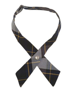 GIRLS ADJUSTABLE PLAID CROSS TIE