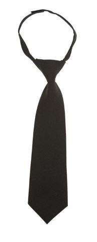 BOYS ADJUSTABLE SOLID TIE