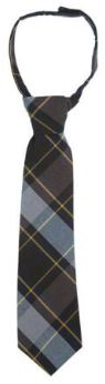 BOYS ADJUSTABLE PLAID LONG TIE