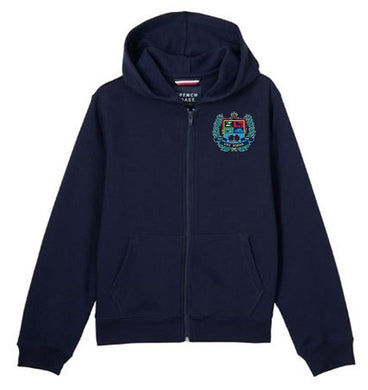 GIRLS ZIP FLEECE HOODY W/LOGO