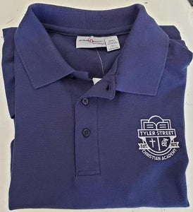 UNISEX ADULT SHORT SLEEVE POLO W/ LOGO