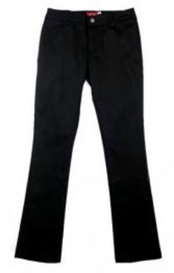 JUNIORS MID RISE STRETCH STRAIGHT LEG PANT
