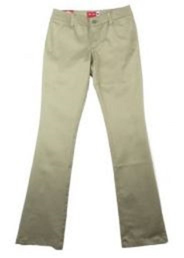 JUNIOR MID RISE STRETCH STRAIGHT LEG PANT
