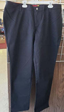 LADIES PLUS SIZE WELT POCKET STRAIGHT LEG PANTS