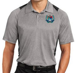 MENS HEATHER COLORBLOCK CONTENDER POLO W/LOGO