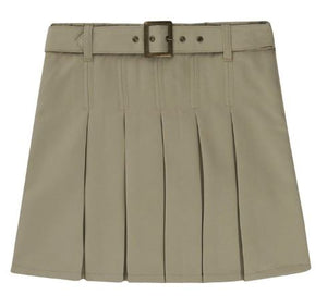 GIRLS BELTED PLEATED SCOOTER - SEC