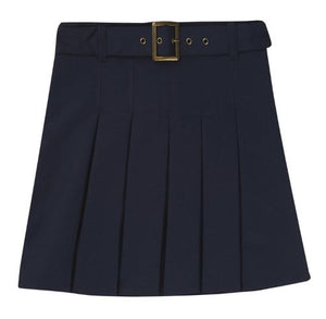 GIRLS BELTED PLEATED SCOOTER - ELEM