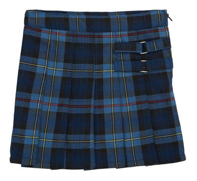 GIRLS PLAID PLEATED 2 TAB SCOOTER