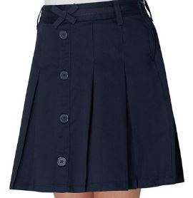 GIRLS PLEATED BUTTON SCOOTER - ELEM