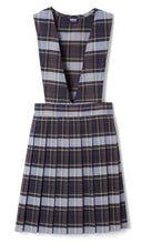 Load image into Gallery viewer, GIRLS PLAID V-NECK PLEATED JUMPER