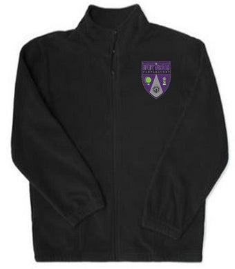 UNISEX ADULT FLEECE JACKET W/LOGO