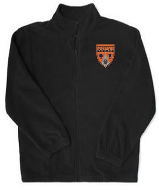 UNISEX ADULT FLEECE JACKET W/ LOGO