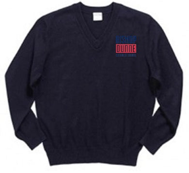 UNISEX YOUTH V NECK PULLOVER SWEATER W/LOGO