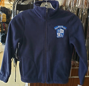 UNISEX ZIP FLEECE JACKET W/LOGO