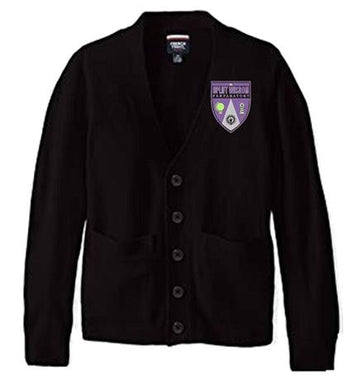 UNISEX ADULT CARDIGAN SWEATER W/LOGO