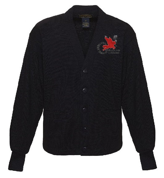 YOUTH V-NECK CARDIGAN SWEATER W/LOGO
