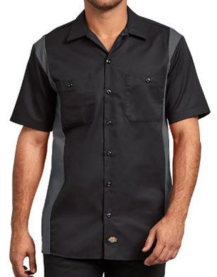 MENS SHORT SLEEVE TWO-TONE WORK SHIRT