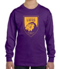 UNISEX YOUTH LONG SLEEVE SPIRIT SHIRT (PRE-K - 1ST ONLY)