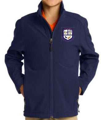 UNISEX SOFT SHELL JACKET W/LOGO - MONTESSORI