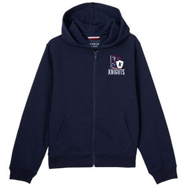 UNISEX YOUTH FLEECE ZIP HOODIE W/ LOGO (SECONDARY)