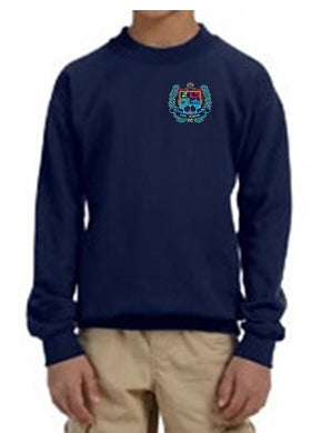 YOUTH CREW NECK SWEATSHIRT W/LOGO
